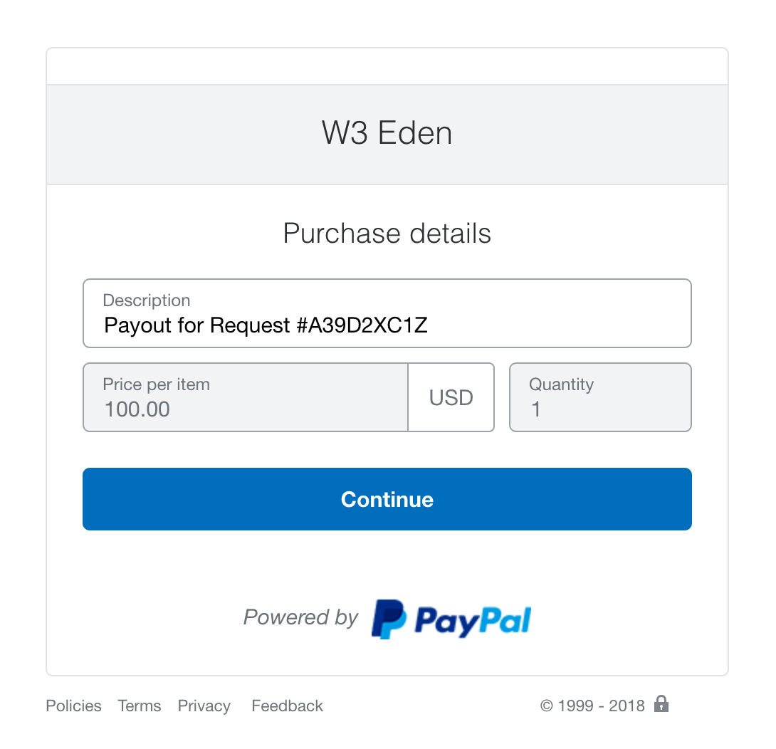 Process Payout Request - PayPal Checkout