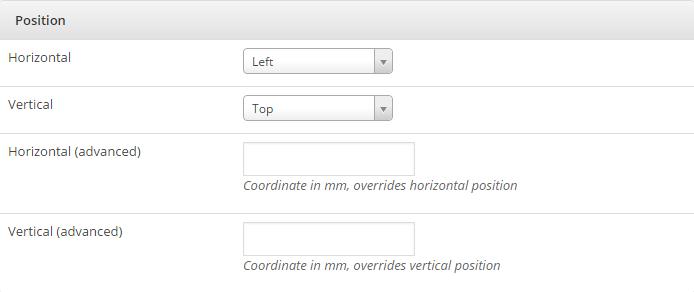 WPDM PDF Stamper - Position Settings