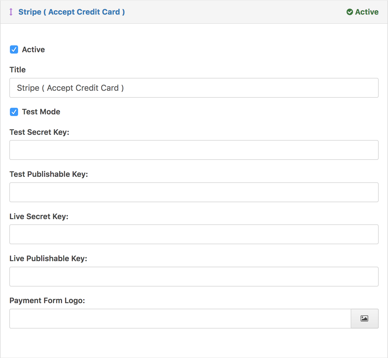 Stripe Payment Gaetway Settings - WordPress Download Manager