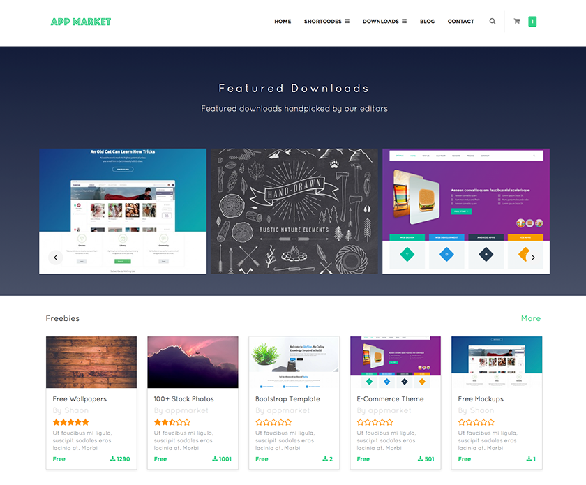 wordpress digital content marketplace theme