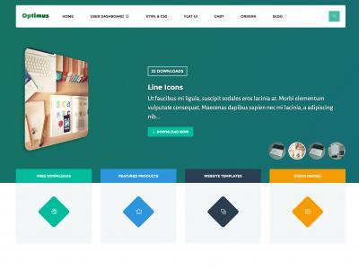 Optimus – WordPress Digital Store Theme
