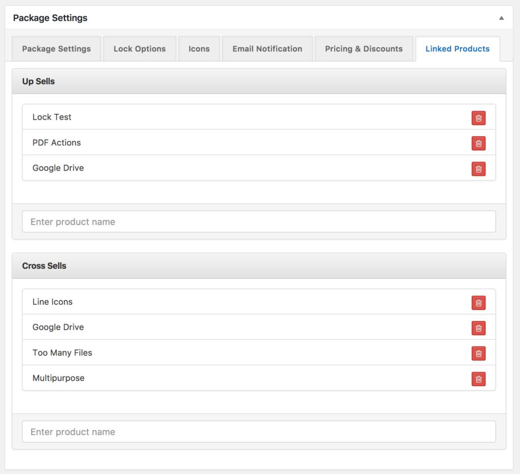 Setting up Up-sell and Cross-sell WordPress Download Manager