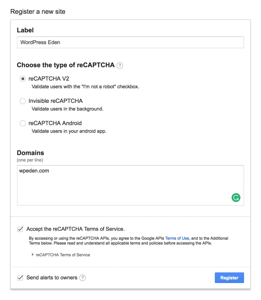 How to configure reCAPTCHA for WordPress Download Manager
