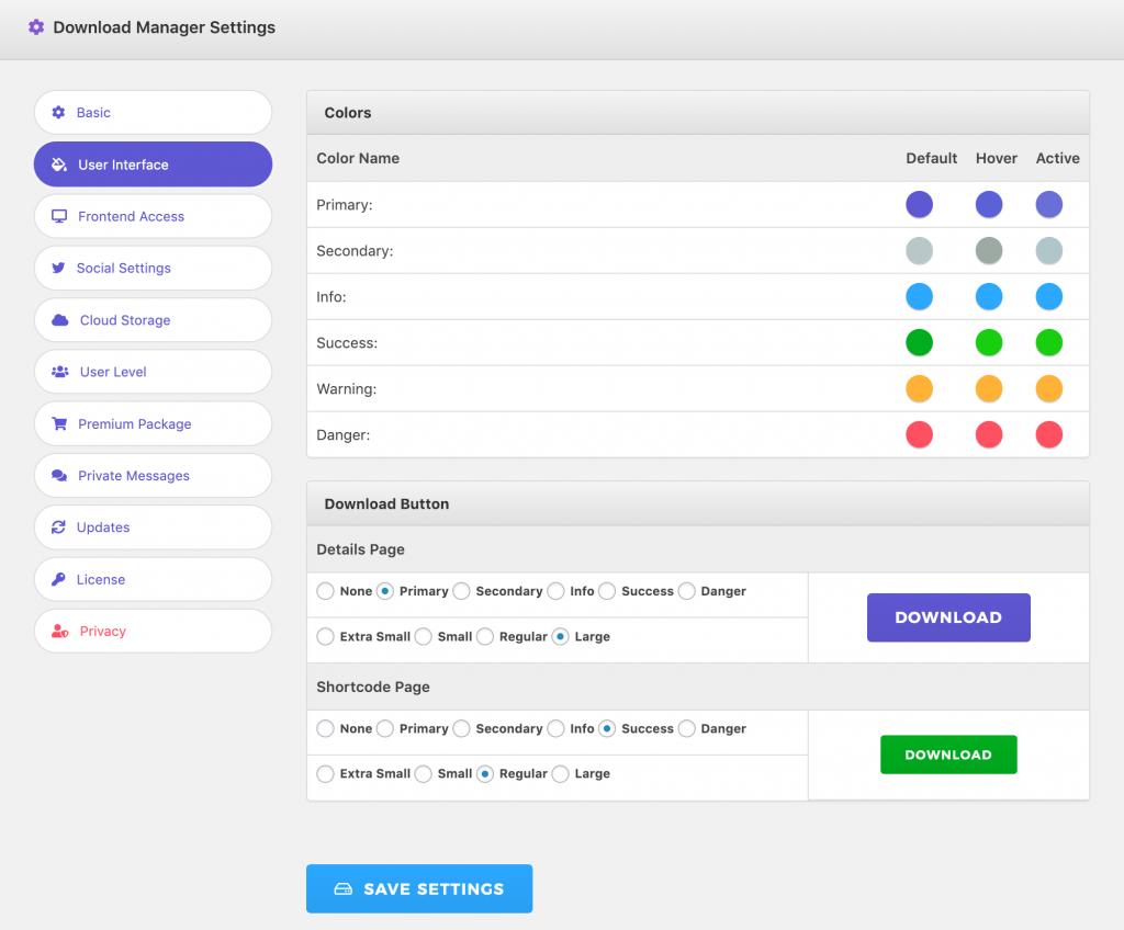 WordPress Download Manager - Customize UI