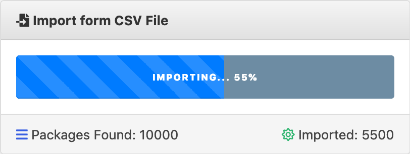 CSV File Import in Progress - WordPress Download Manager
