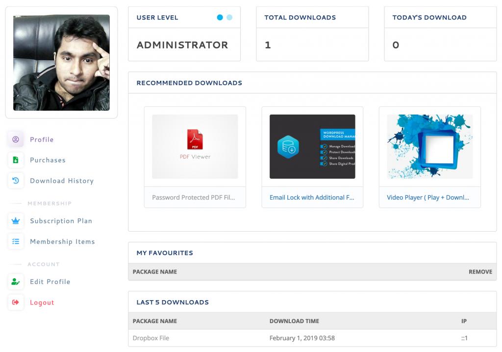WordPress Download Manager New Dashboard UI