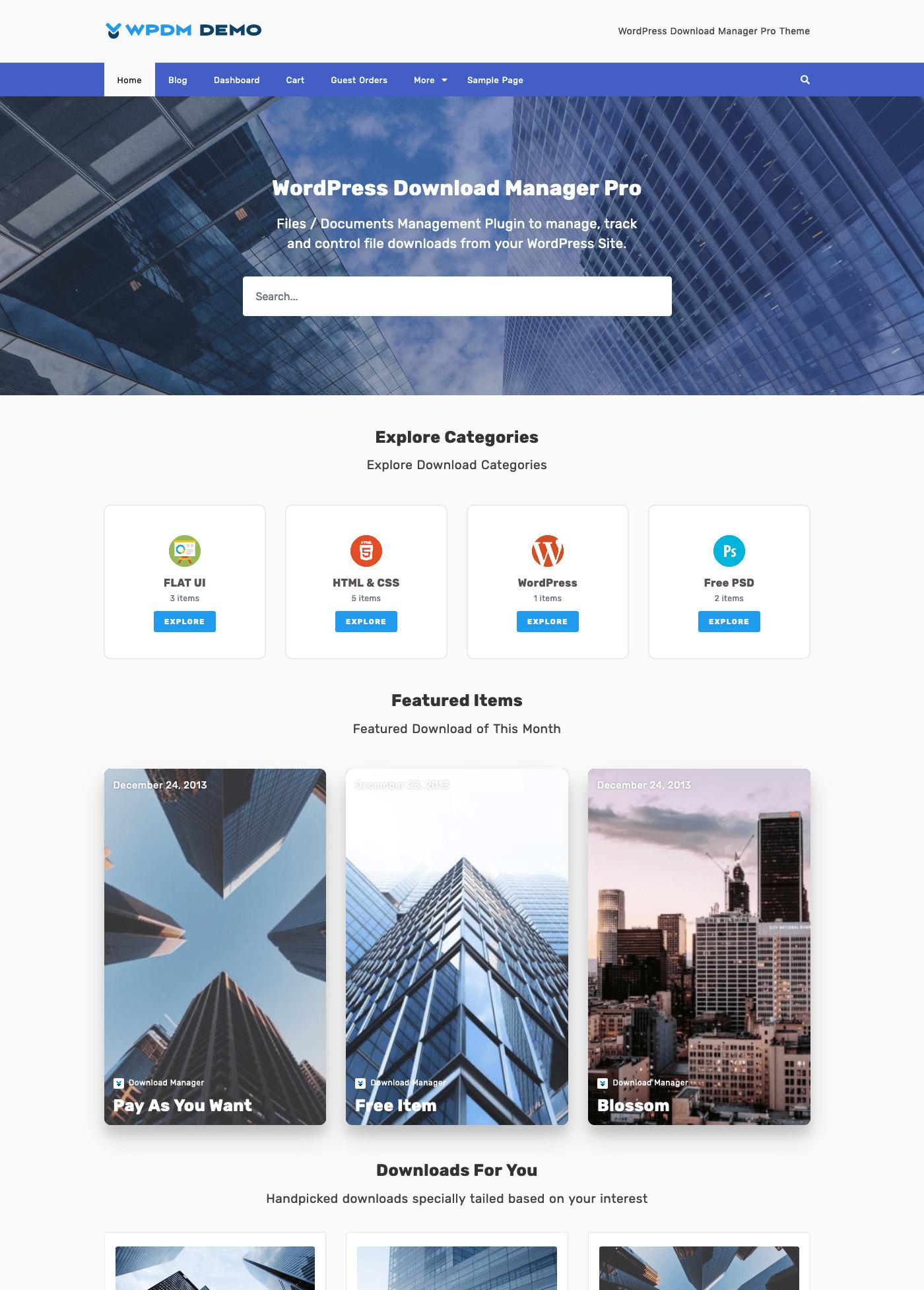 Attire - WordPress Download Manager Pro Theme