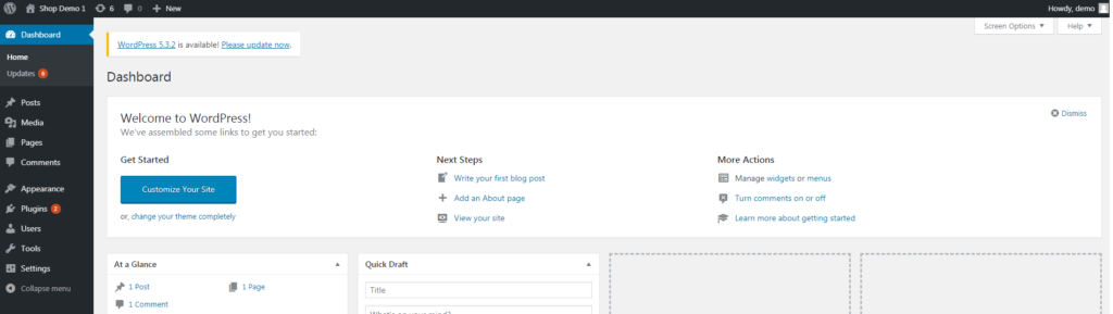 This image has an empty alt attribute; its file name is STEP-4.3-WordPress-Dashboard-1024x289.png