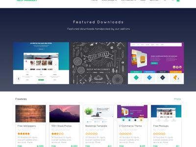 wordpress digital content marketplace theme