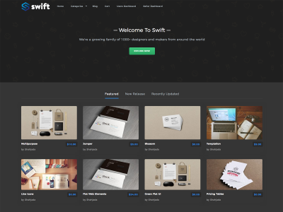 Swift – WordPress Themes for Selling Digital Products